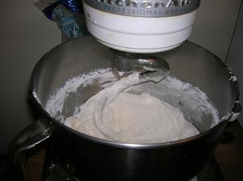 Fondant in Mixer
