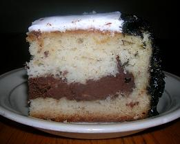White Cake with Chocolate Cream-Cheese Tunnel
